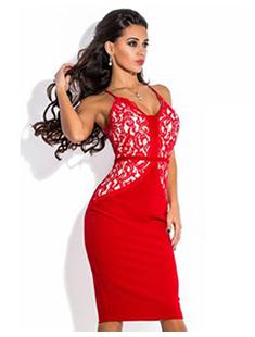 Платья цвета марсала с кружевом 181